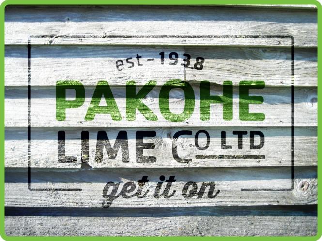 Pakohe Lime Co Sign